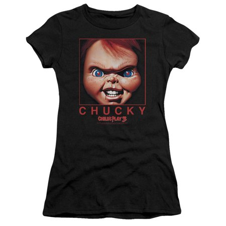 Striped Chucky Shirt (Childs Play Chucky Squared Juniors Short Sleeve)