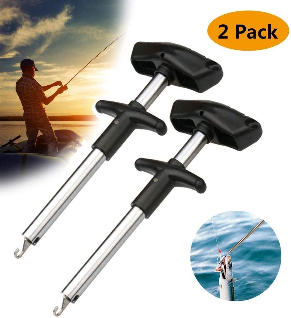 Fast Decoupling Fish Hook Remover No Injury Squeeze-Out Fish Hook Separator Tools 4 Colors Available Pro Fishing Hooks Extractor Easy Reach and Portable Aluminum Fish Hook Remover Tool