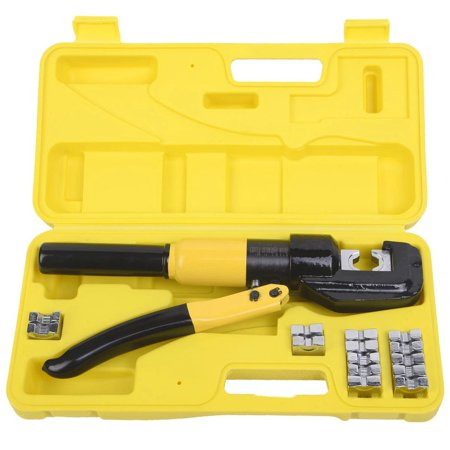 5 ton hydraulic wire terminal crimper battery cable lug. Black Bedroom Furniture Sets. Home Design Ideas