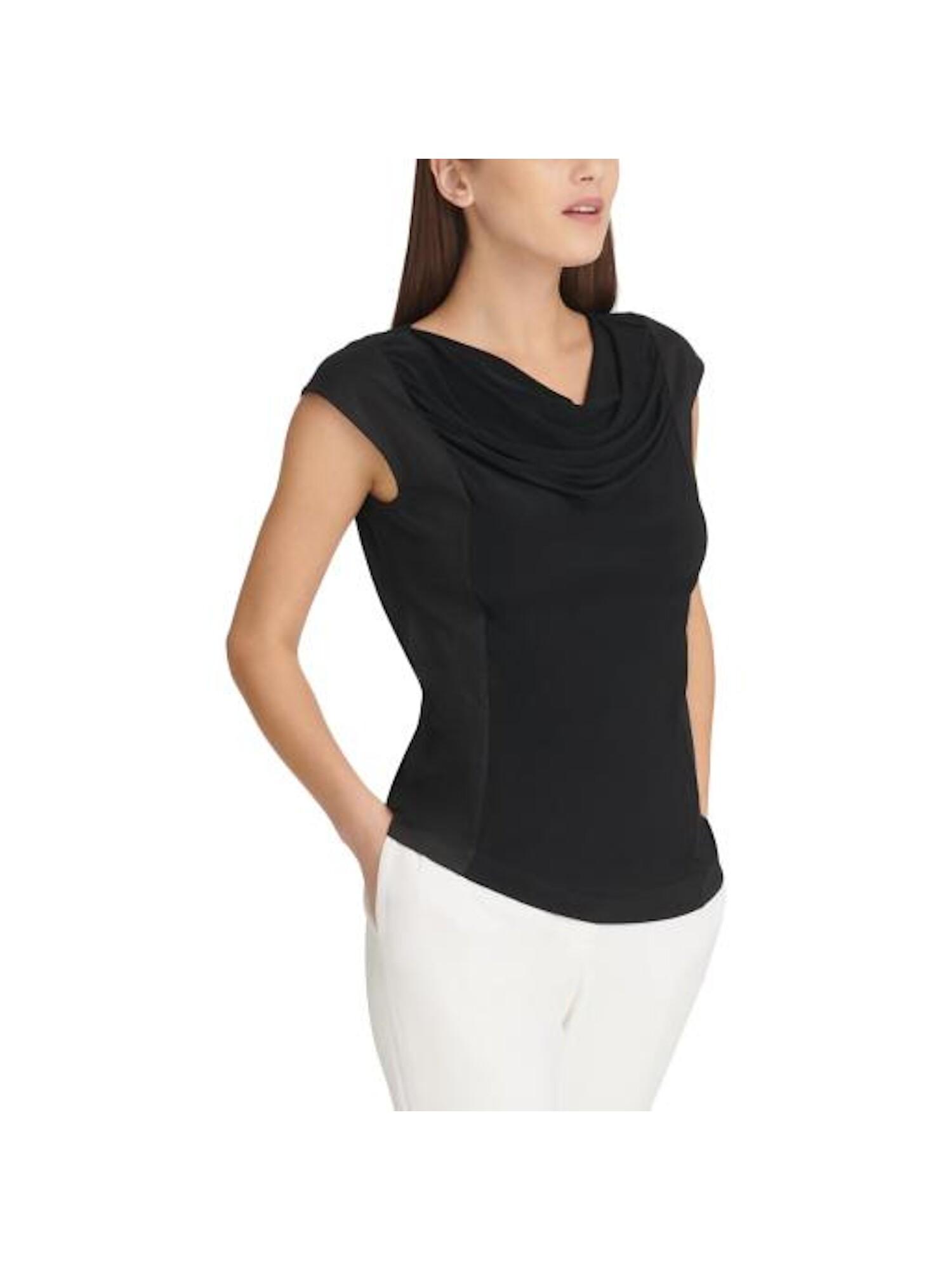 DKNY NEW Women/'s Printed V-veck Long Sleeve Blouse Shirt Top TEDO