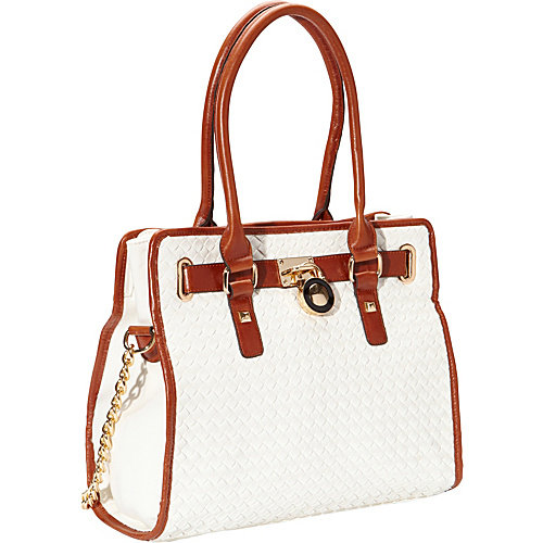 SW Global Aisha Woven Pattern Convertible Satchel