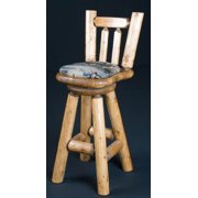 30 in. Bar Stool with Cushion Seat (Clear)