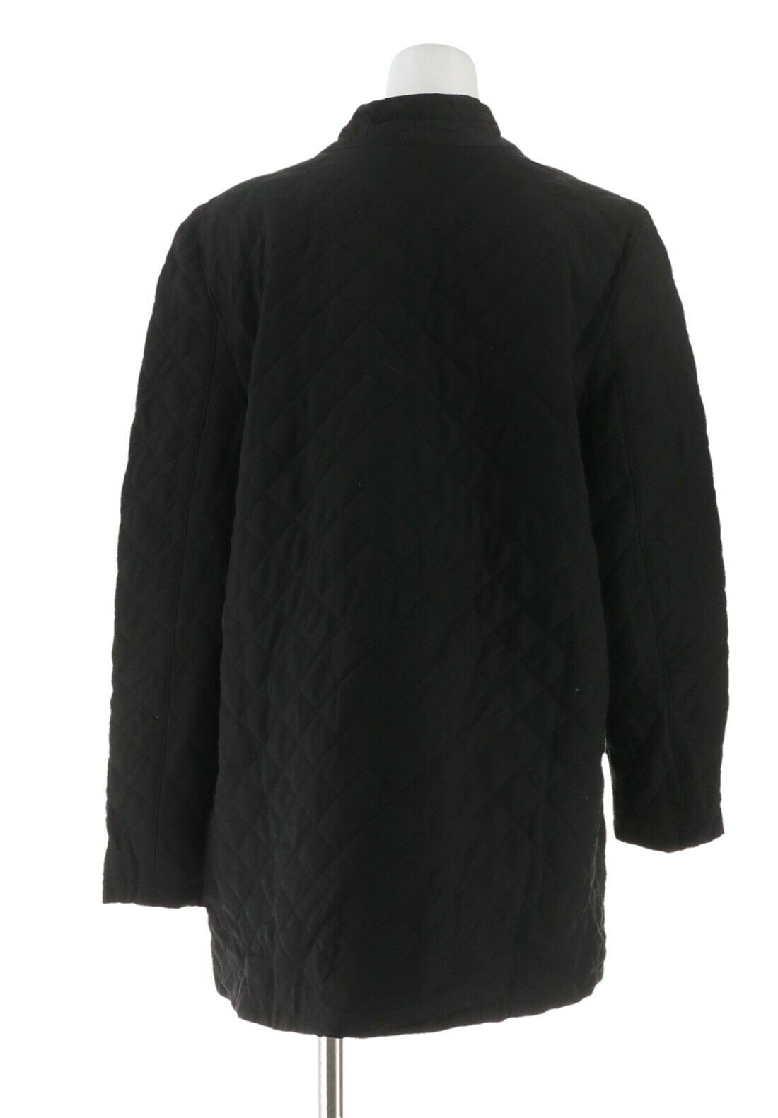 LOGO Lori Goldstein Faux Fur/& Quilted Jacket Black 20W NEW A297092