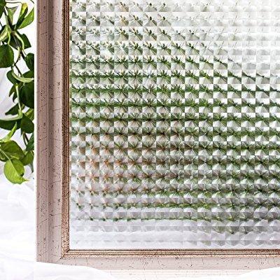 cottoncolors 3d adhesive free window film decorative privacy heat control sun blocking. Black Bedroom Furniture Sets. Home Design Ideas