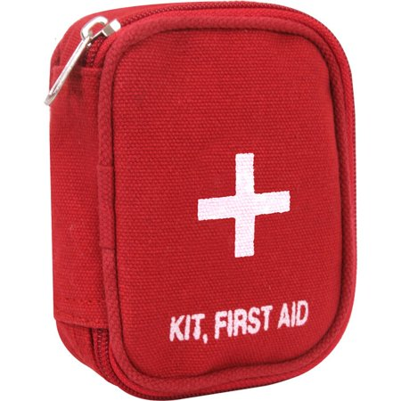 Red - Military Zipper First Aid Pouch with No Contents (First Aid Box Contents)