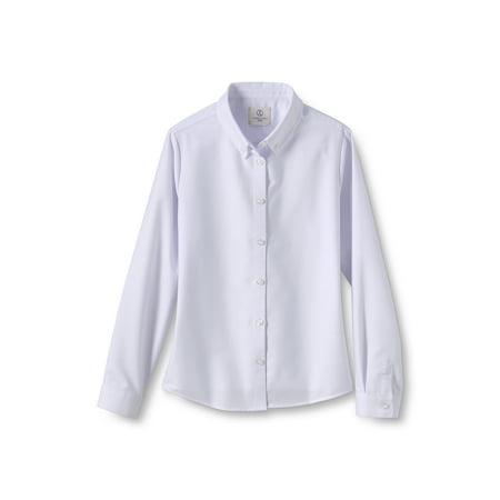 Lands' End Girls School Uniform Long Sleeve Oxford Shirt (Little Girls & Big Girls) ()