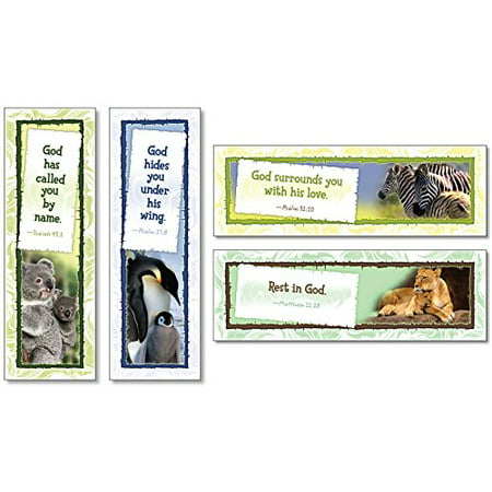 "God Cares for His Children 36 Pc. Christian Bookmark Assortment (6 Designs) (2110), 2"" x 6 ½"" 95.1 x 16.5 cm). By North Star Teacher Resources"