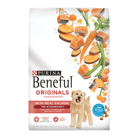Salmon Sweet Potatoes (Purina Beneful Dry Dog Food, Originals Natural Salmon With Sweet Potatoes, Green Beans & Carrots - 14 lb.)