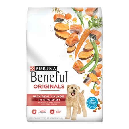 Purina Beneful Dry Dog Food, Originals Natural Salmon With Sweet Potatoes, Green Beans & Carrots - 14 lb. Bag