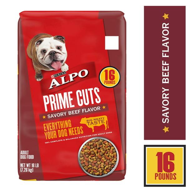 Purina ALPO Dry Dog Food Prime Cuts Savory Beef Flavor - 16 lb. Bag