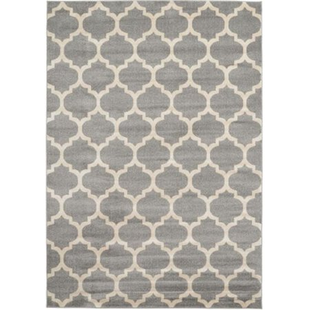 Rugs America 25789 Brooklyn Gray Ivory Rectangle Geometric Rug, 7 ft.1 in. x 10 ft.1 in. - image 1 of 1