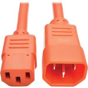 Tripp Lite P005 006 AOR Heavy Duty Power Extension Cord, 15A, 14 AWG (IEC 320 C14 to IEC 320 C13), Orange, 6 ft.