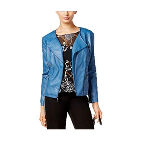 1e9e50db4 Alfani Petite Faux-leather Moto Jacket - Petities - XS - NAVY