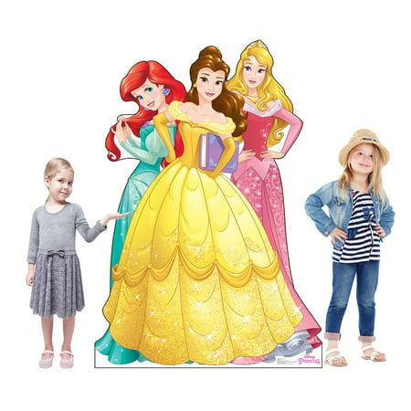Disney Belle Cardboard Stand - Disney Princesses - Ariel, Belle and Aurora Cardboard Stand-Up, 5.5ft