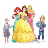 Disney Princesses - Ariel, Belle and Aurora Cardboard Stand-Up, 5.5ft