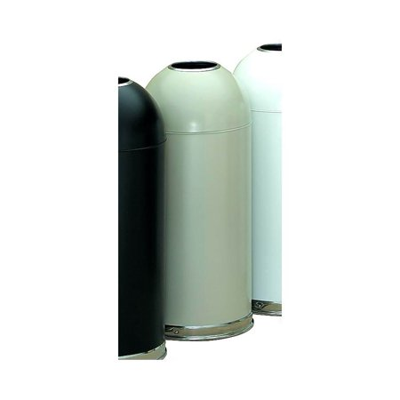 Steel Open Top Trash Receptacle in Almond Finish (Almond) - Open Top Receptacle Finish