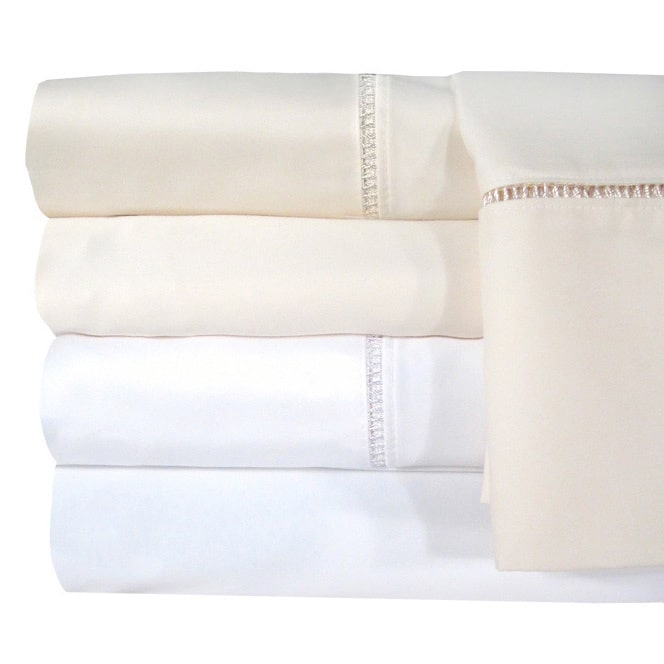 Veratex Grand Luxe Egyptian Cotton Linford Hemstitch 1200 Thread Count Sheet Separates