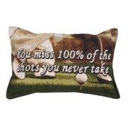 Golf Golfing You Miss Shots Tapestry Toss Pillow
