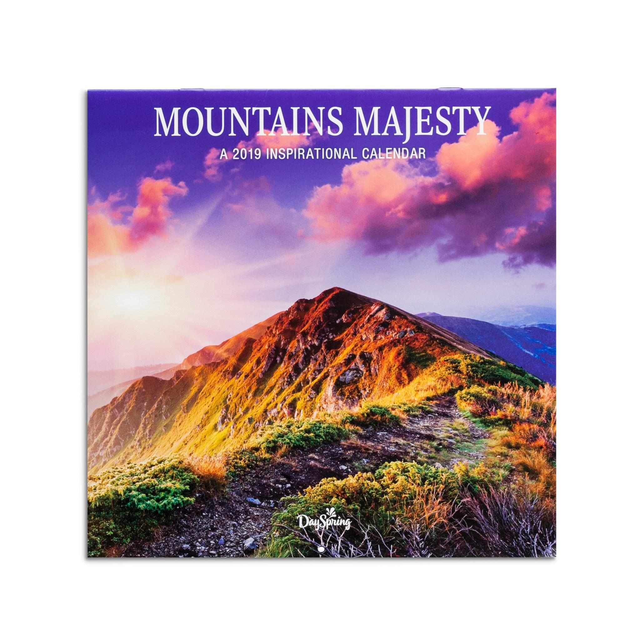 DaySpring  -  DaySpring -Mountains Majesty - 2019 Wall Calendar