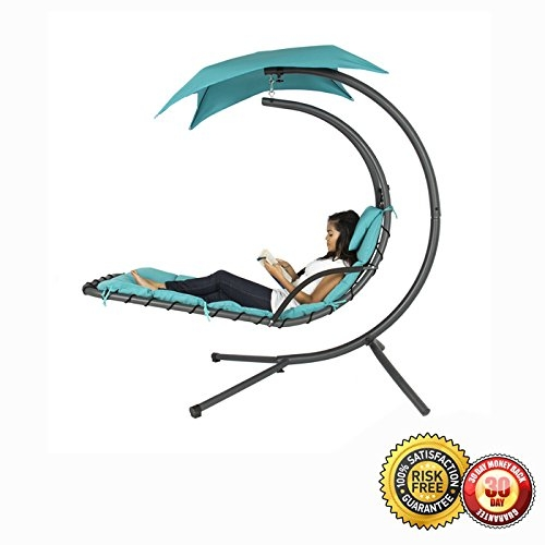 New MTN-G Hanging Chaise Lounger Chair Arc Stand Air Porc...