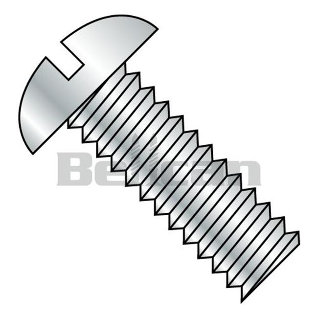 Shorpioen 3740MSR 0.37-16 x 2.5 Slotted Round Fully Threaded Machine Screw - Zinc - Box of 450 - image 1 de 1