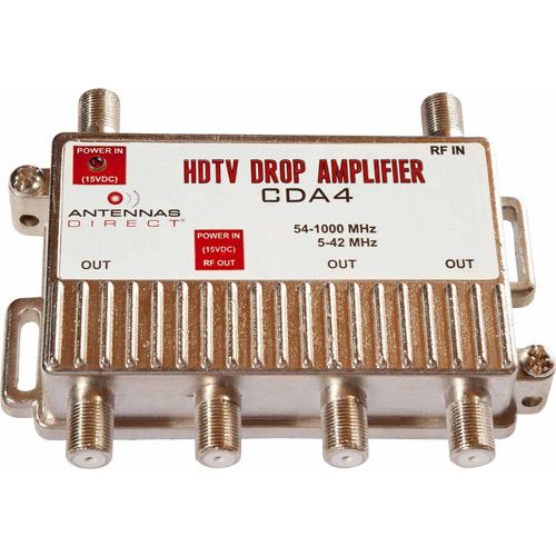 Antennas Direct CDA4 4-Way Output TV-CATV Distribution Amplifier