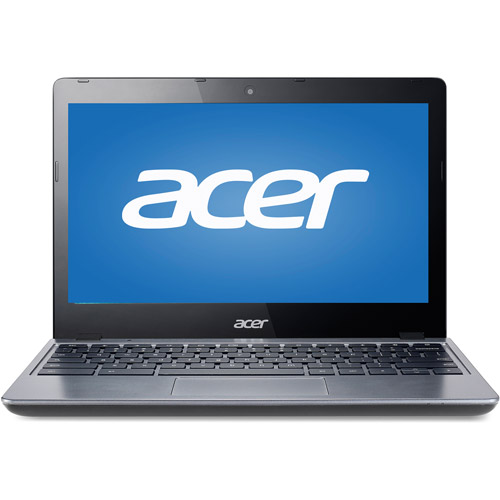 "(Refurbished) Acer C720-2103 11.6"" LED Chromebook - 4th Gen Intel Celeron Haswell 2955U 1.40GHz, 16 GB SSD, 2 GB Mem, 11.6"" display (1366 x 768), WebCam, BT 4, 802.11a/b/g/n, Chrome OS - Warranty"