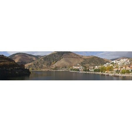 Village at the waterfront Pinhao Duoro River Cima Corgo Douro Valley Portugal Poster (Douro Valley Portugal)