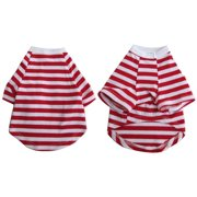 Iconic Pet Pretty Pet Red and White Striped Top, X Small