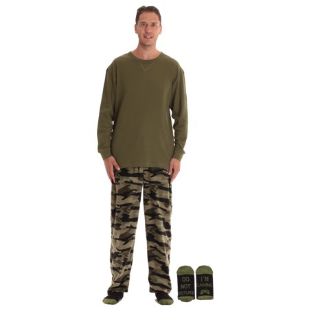 #followme Mens Microfleece Pajama Pants Set with Socks 44938-1A-M (Camouflage - I'm Gaming, XX-Large) thumbnail