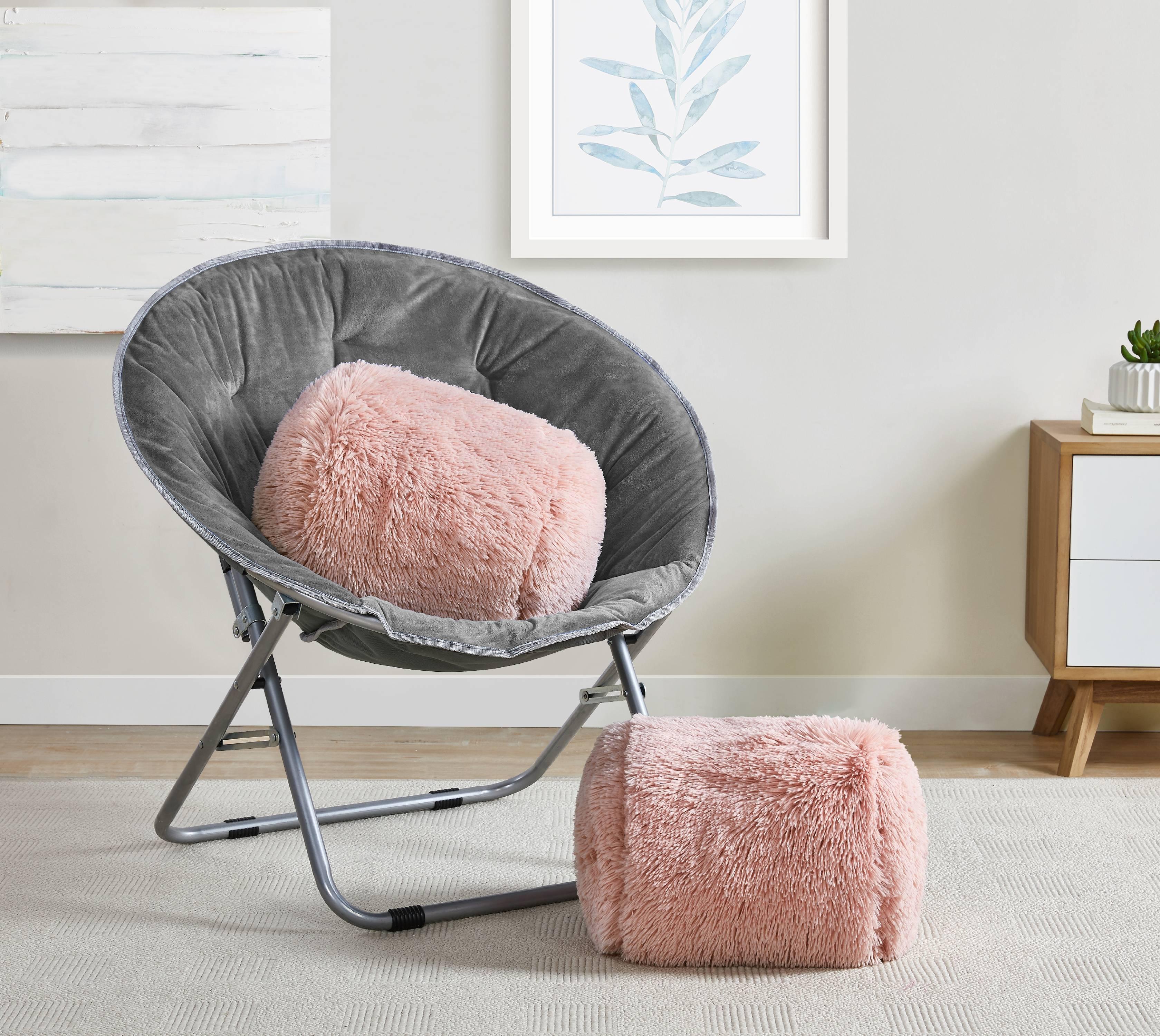 Picture of: Mainstays Fluffy Faux Fur Decorative Pillow Set 2 Pack Blush Walmart Com Walmart Com