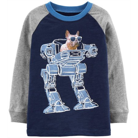 Carters Toddler Boys Robot Dog Long Sleeve T-Shirt ()