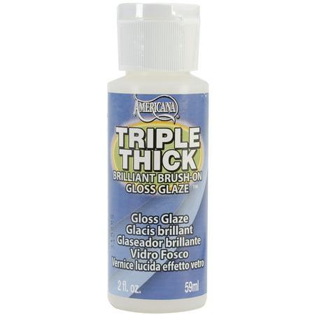 Cone 6 Glazes - Triple Thick Brilliant Brush-On Gloss Glaze 2oz-