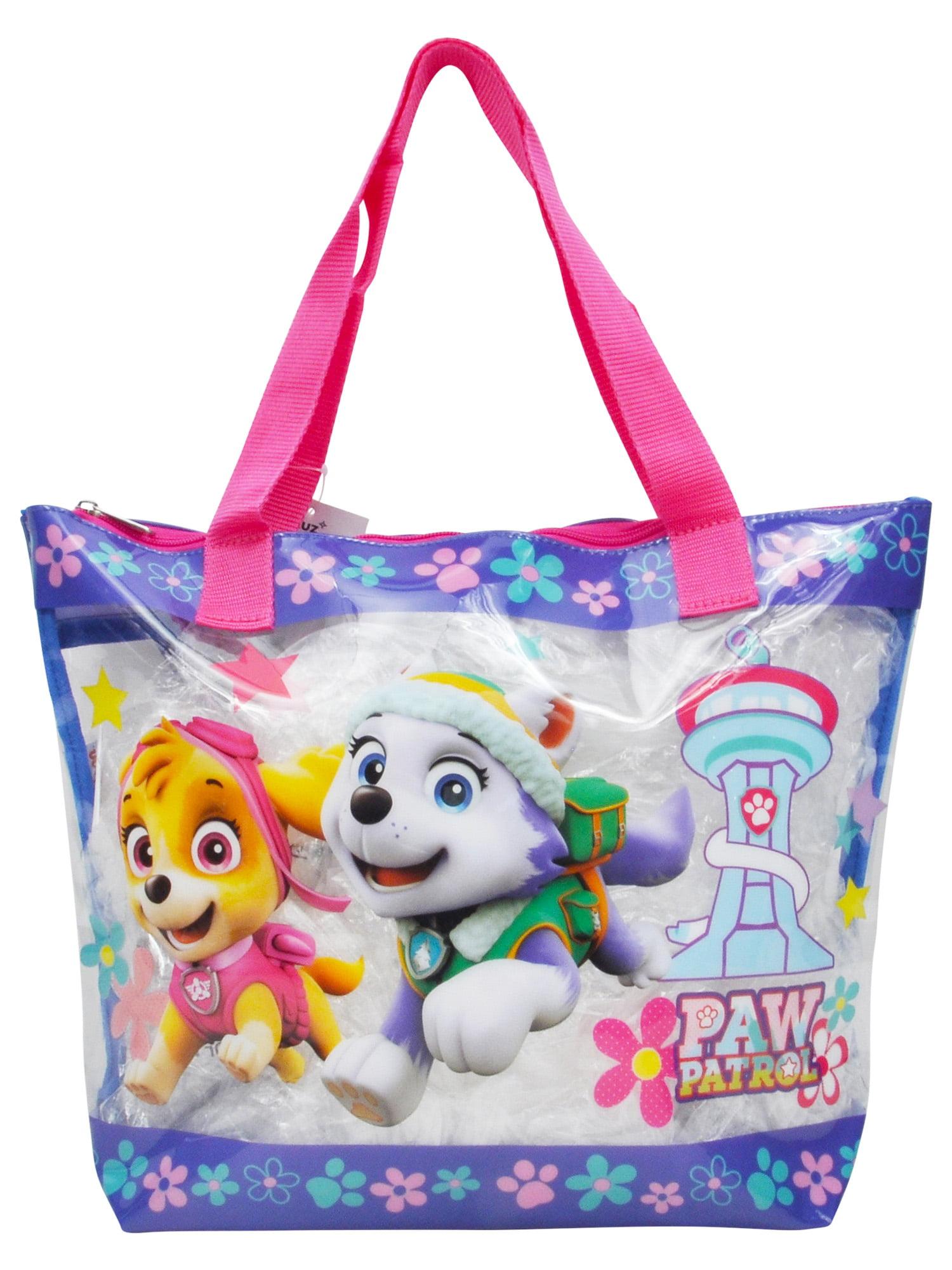 Girls Paw Patrol Large Clear Tote Bag Skye Everest
