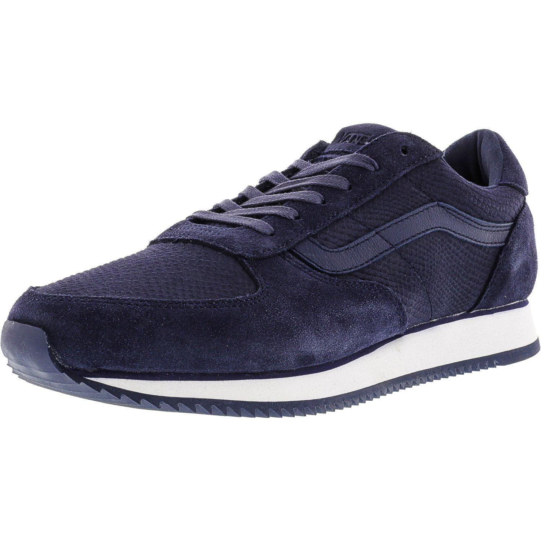 Vans Men's Runner Python Crown Blue Ankle-High Skateboarding Shoe - 11M
