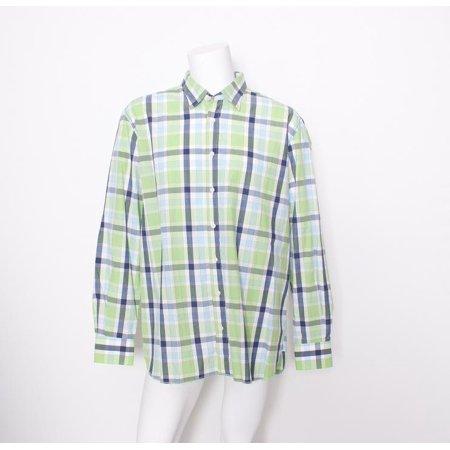 Di Chio Mens Green Multi Plaid Cotton Long Sleeve Shirt Size 2Xl