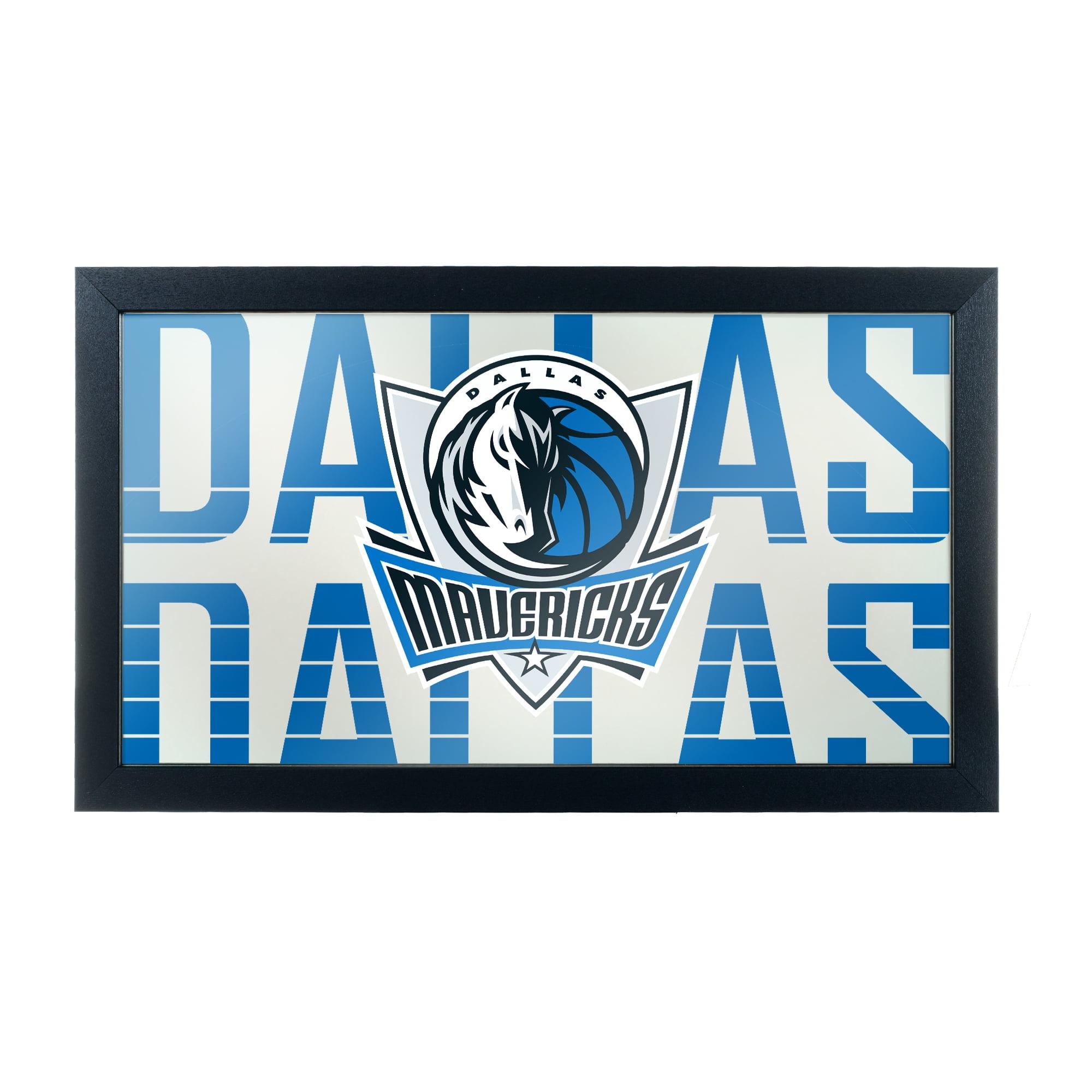 NBA Framed Logo Mirror - City - Dallas Mavericks