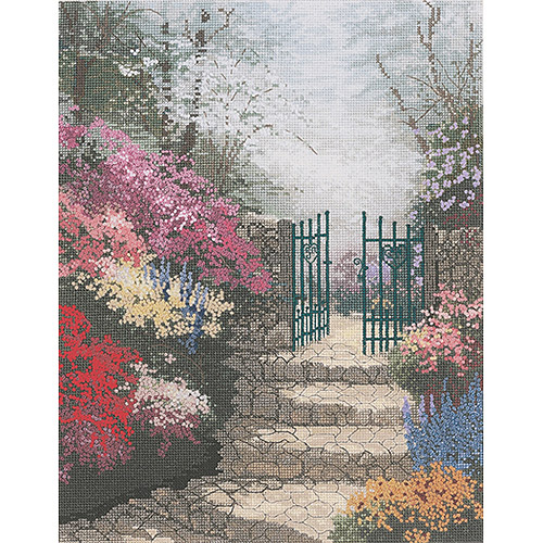 "M C G Textiles Thomas Kinkade The Garden Of Promise Counted Cross Stitch Kit, 11"" x 14"", 14 Count"