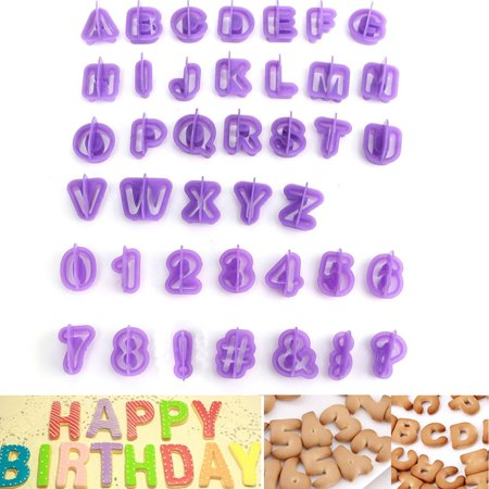 40 pcs Alphabet Capital Letters Number Symbols Shape Cookie Cutter Fondant Cutter Cake Decorating Tools Cupcake Mold MZ](Easy Halloween Cookie Decorating)