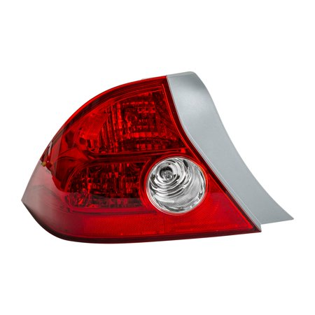 TYC 11-6058-00 Driver Side Tail Light Assembly for 04-05 Honda Civic HO2800155 ()