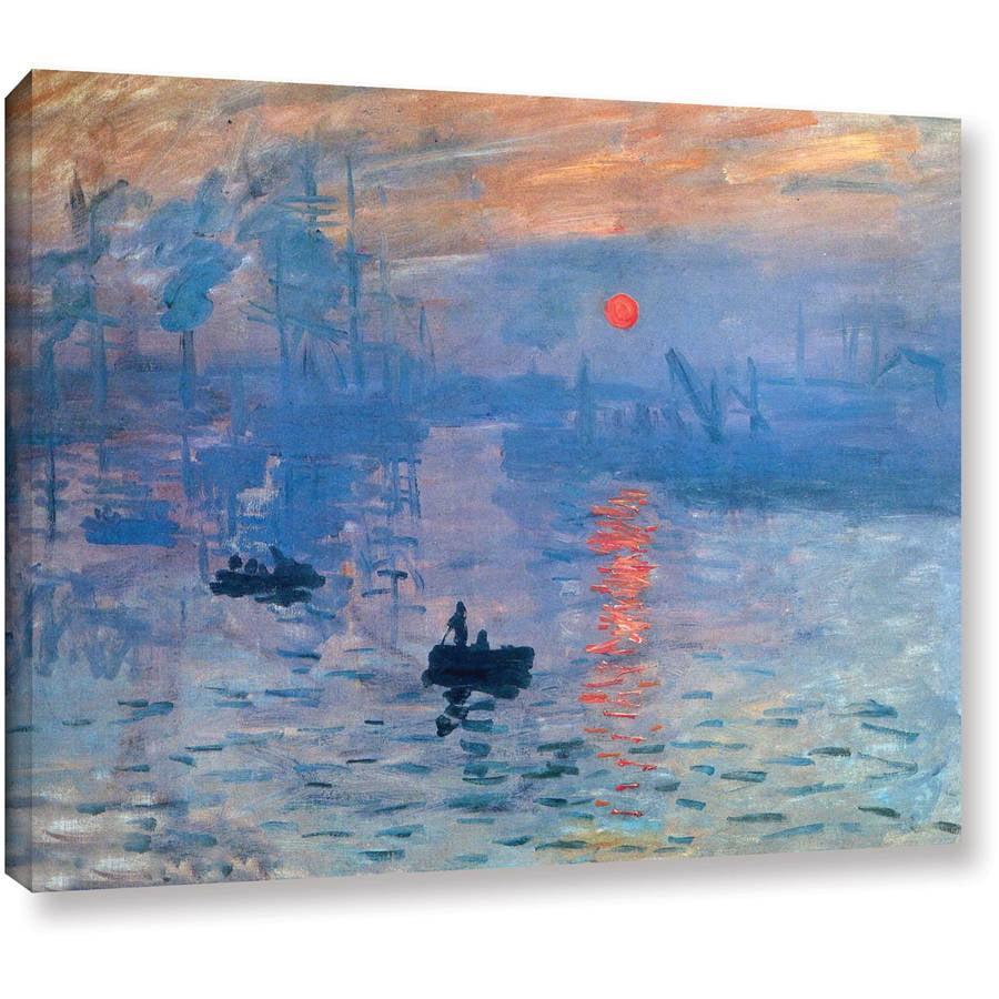 """Claude Monet """"Sunrise"""" Wrapped Canvas"""