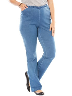 f8561d220a9a0 Product Image Woman Within Plus Size Petite Bootcut Fineline Jean