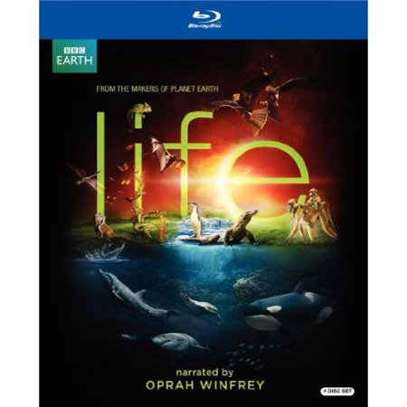 BBC Earth Life BBCLIFEBLURAY 4 BLURAY Gift Set Narrated by Oprah Winfrey