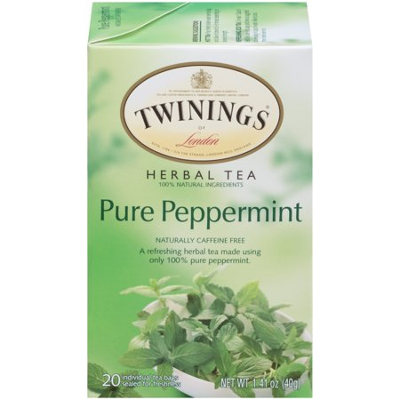 (4 Boxes) Twinings Of London Herbal Tea, Pure Peppermint, Tea Bags, 20 -