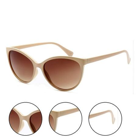 Minneapolis Cateye Retro Horn Rimmed Womens Sunglasses ...