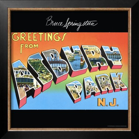Bruce springsteen greetings from asbury park nj framed poster bruce springsteen greetings from asbury park nj framed poster wall art m4hsunfo