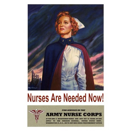 Nurses Are Needed Now For Service In The Army Nurse Corps   Stu L Savage Canvas Art     24 X 36