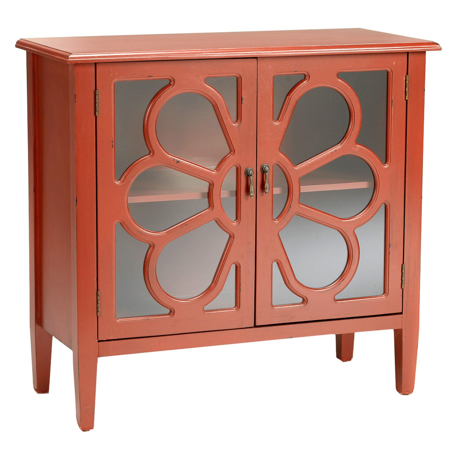 AA Importing 2 Door Cabinet Antique Red by AA Importing