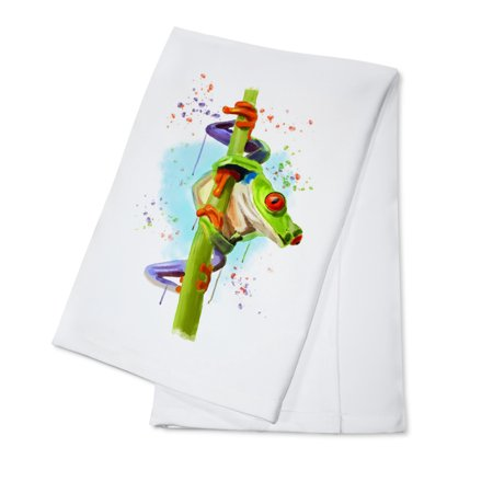 Watercolor Creatures - Red Eyed Tree Frog - Lantern Press Artwork (100% Cotton Kitchen -