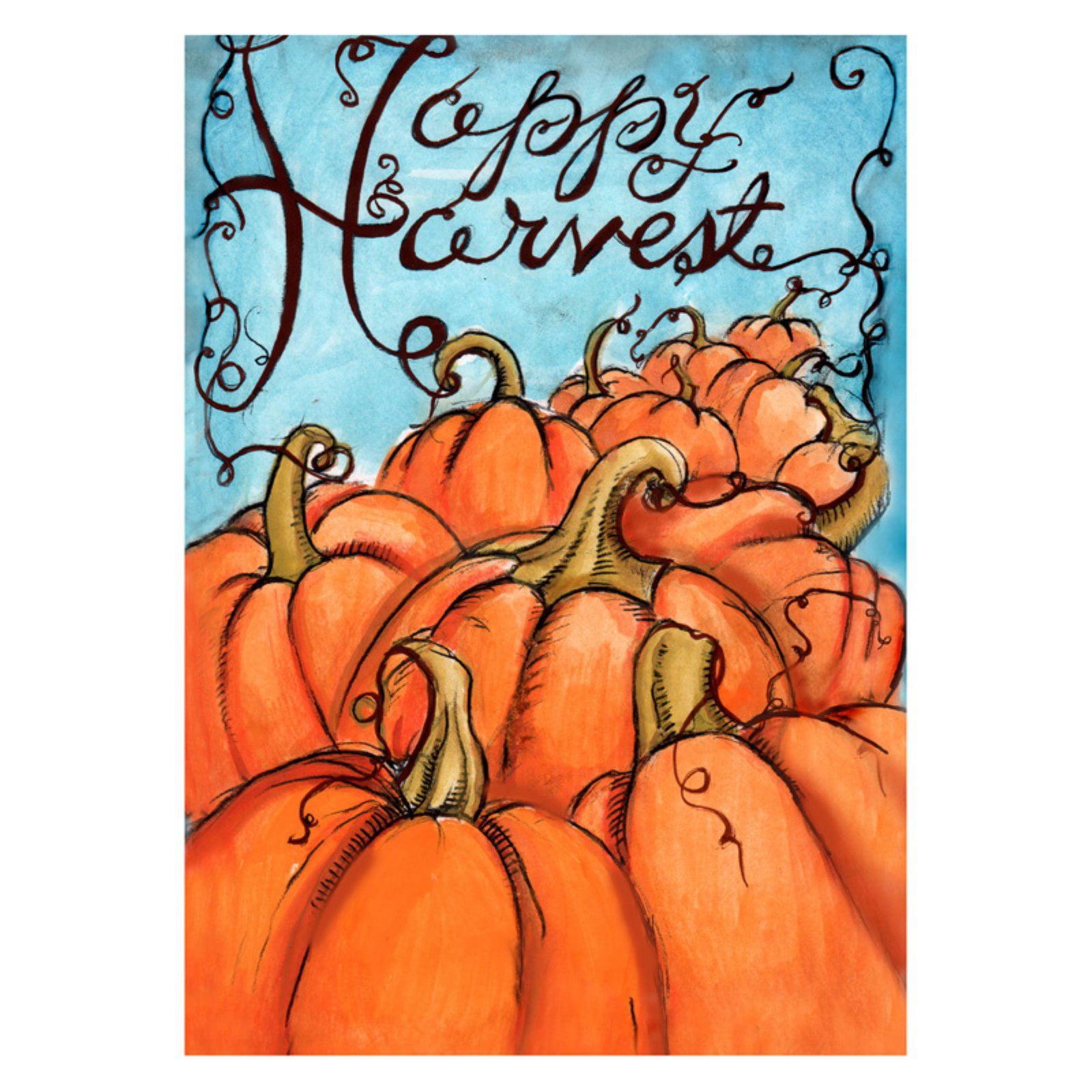 Toland Home Garden Pumpkin Harvest Flag